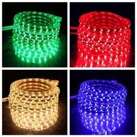 Strips LED Strip 220V Waterproof Flexible Light Tape Lamp Outdoor String 1M 2M 3M 4M 5M 10M 12M 15M 20M 25M 60LEDs M