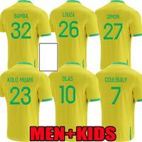 الرجال الاطفال 21 22 FC نانت لكرة القدم الفانيلة الاطفال المنزل بعيدا 2021 2022 لوزا بامبا سيمون كولو مواني بلاك كوليبالي جيرسي كرة القدم قمصان