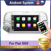 Player Android RDS 32G ROM Car DVD GPS For 500 Navigation Multimedia Radio Steering Wheel Control BT Support Carplay 2 Din