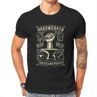 T-shirts Anime Hård Arbetare, Hand Hardwork Mall Verktyg T-shirt Män Sommar T-shirt