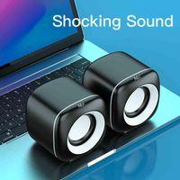 Mini Computer Speakers Deep Bass Speaker TV Laptop Surround Sound Box Subwoofer Powerful Multimedia Loudspeakers