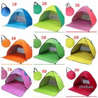 Wholesale-Automatic Open Tent Family Tourist Fish Camping Anti-UV Fully Sun Shade Hiking Camping Family Tents For 2-3 human