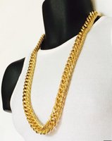 Fine Mens Miami Cuban Link Curb 14k Real Yellow Solid Gold GF Hip Hop 11MM Thick Chain JayZ Epacke