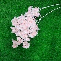 Simulación Plum Cerey Blossoms Artificial Seda Flores Sakura Árbol Ramas Inicio Mesa Sala de estar Decoración de la boda GWF4978