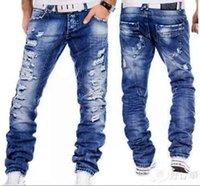 Kot Erkekler Erkek Jean Homme Erkek erkek Klasik Modası Pantolon Denim Biker Pantolon Slim Fit Baggy Düz Pantolon Tasarımcı Ripped1