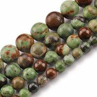 Crisopasa natural Piedra Verde Jades Spacer Sleed Beads para joyería Hacer pulseras de bricolaje 15 '' 6/8/10 / 12mm