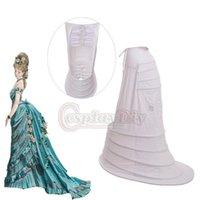 Cosplaydiy Viktorianischer Rokoko Crinoline Pannier Trubel Back Käfig-Reifen Petticoat Frauen Victorian Mittelalterliches Kleid Unterhemd L320