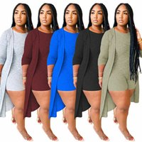 Women Fashion Clothes Autumn Sexy Pants + Cape Five Colors Two Piece Suit Ladies Coat Shots Long Sleeve The New Listing
