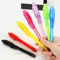 Multifunctional anti-counterfeiting UV invisible highlighter decorative led electronic purple light money detector pen Creative DHD11068