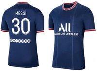 Messi 30 Neymar Jr 10 Mbappé 7 Fotbollsträngar Toppar Jersey Wijnaldum 18 Verratti 6 Sergio Ramos 4 21-22 Skräddarsydda Thai Kvalitet Anpassade slitage