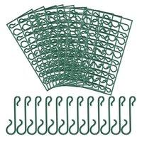 القضبان السنانير قابلة لإعادة الاستخدام البلاستيك البسيطة لعيد الميلاد زخرفة، تصميم S مع مقص الديكورات المنزلية (300 قطعة)