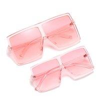 Семейный набор Солнцезащитные очки Взрослый и дети Размер Две пары очков для родительского ребенка Мода Большая квадратная рамка Очки