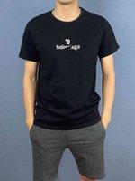 Luxusmarke T-Shirt B Home Brief Stickerei Herren Baumwolle Kurzarm T-shirt Rundhalsmode Mode Einfache Slim Sommer