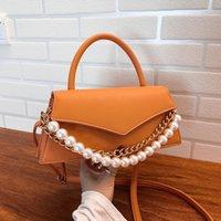 Bolsas de hombro Pearl Pequeño Crossbody para mujeres 2021 Bolsos elegantes Dulces Sweet Cadena de viaje CROSS Bolsa de cuerpo