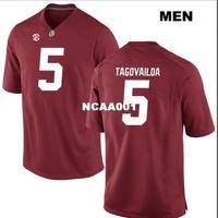2019 novo 001 alabama carmesim maré tua tuavailoa # 5 Real completo bordado faculdade jersey tamanho s-4xl ou personalizado qualquer nome ou número jersey