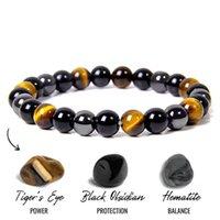 Natural Black Obsidian Hematite Tiger Eye Beads Bracelets Men for Magnetic Health Protection Women Soul Jewelry