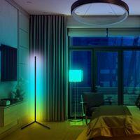 Lâmpada de assoalho moderno Dimmable RGB Canto Quarto Atmosfera Decoração Indoor Stand Light Control por Remote