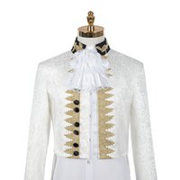 luxury mens medieval prince vintage jacket with pants set event cosplay party carnival outfit
