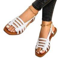 Sandals Women Woman Summer Hollow Out Roman Shoes 2021 Women's Gladiator Open Toe Beach Flats Ladies Footwear Plus Size 35-43