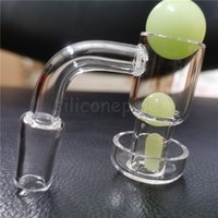 Smoking Accessories Terp Slurper banger Beveled Edge Vacuum Quartz Bangers with Pearls For Glass Water Bongs Oil Rigs Pipes