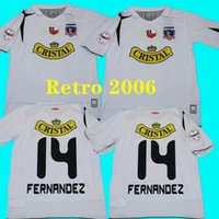2006 Colo Colo Retro 2007 Jerseys de futebol Argentina CSD Casa Branca Vintage Camiseta de Fútbol Classic 06 07 Fernrndez Camisas de futebol 999
