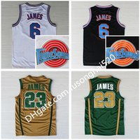 NCAA St. Vincent Mary Lisesi İrlanda 6 23 James Formalar Basketbol Gömlek Tune Kadro Toones Tunesquad Uzay Reçel Yeşil Beyaz