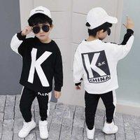 New Spring Autumn Children Clothing Boys Cartoon Casual Sports T-shirt Pants 2pcs set Infant Outfit Kids Clothes Suit Tracksuits G0908