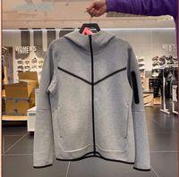 Novo estilo com capuz sportswear casual windproof jaqueta de malha CU4490