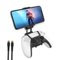 Ps5 Gamepads Controller Phone Clip Gaming Holder Mount For Ps5 Game Controller Adjustable Mobile Phone Bracket With Rotation