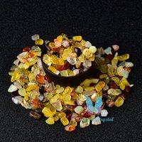 0.44LB染め黄色瑪瑙水晶クリスタルヒーリングストーンガーデンフィッシュタンク標本