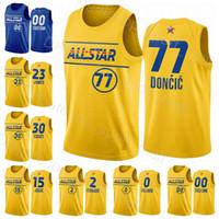 Basketbol 2021 All-Star Jersey Stephen Curry Lebron Nikola James Luka Doncic Kawhi Leonard Damian Lillard Devin Booker Donovan Mitchell Man
