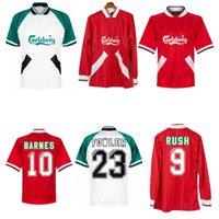 1993 1995 Barnes Rush Clough Redknapp Fowler Stewart Retro Fussball Jersey 93 94 95 Nicol Mcmanaman Fowler Vintage Classic Football Shirt