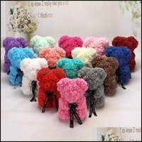 Favor Event Festive Supplies Home & Garden25Cm Artificial Of Roses Party Decorations Rose Bear Girlfriend Birthday Gifts Baby Shower Favors