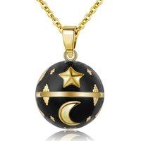 Eudora Harmony Black Bell Embarazo Bola Colgante Luna Estrella Diseño Collar de Bola Musical Para Mujer Joyería N14NB308