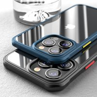 Luxury Acrylic Hard Phone Cases Plastic Transparent for iPhone XS XR X 11 12 13 Pro Max 7 8 Plus Shockproof Clear Shell Cover