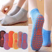 Anti-Skid Grig Pilates Socke für Erwachsene Kinder Urlaubssocken Anti-Rutsch Boden Socken Frauen Baumwolle Yoga Socken Fußmassage