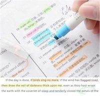 12 Renkler / Set Sevimli Süt Liner Kalemler Vurgulayıcı Çift Çift Başlı Floresan Kalem Çizim Marker Kalem Kırtasiye Schoo Jlliua
