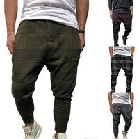 OCAKSNOW Erkekler Şık Gevşek Ekose Pantolon Baskılı Rahat Harem Pantolon Joggers Spor Pantolon Erkekler Hip Hop Streetwear Pantalon Homme