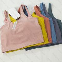 BRA Tank Women Yoga Braz Shirts Sport Gilet Fitness Tops Sexy Sous-Vêtements Sous-vêtements Couleur Solide Lady Top avec tasses amovibles Chars de sport
