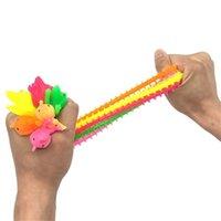 Adultos Criança Criativa Fidget Brinquedo Noodle Rope Stress Reliever Brinquedos Caterpillar Dog Descompression Puxe Ropes Ansiedade Relief Toys H388PUX
