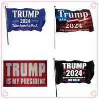 ABD Stok DHL 2024 Seçim Bayrakları Banner Donald Trump Bayrak Amerika Tutun Büyük Yine Ivanka Trump Bayrakları 150 * 90 cm 5 Stilleri