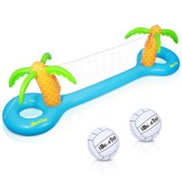 Pool & Accessories IBASETOY 1PC PVC Inflatable Volleyball Game Set Floating Swimming For Family Kids