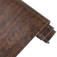 Carta in legno e bastone Carta da parati rimovibile Carta marrone a grana rimovibile Autoadesivo Vintage Distressed Paper Ristrutturato Q0723