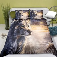 Bedding Sets Home Textiles Printed Wolf Quilt Cover & Pillowcase 2 3PCS US AE UE Full Size Queen Set