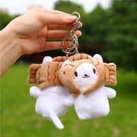 Schlüsselanhänger Koreanische Ins Plüsch Cat Head Key Ring, Reizende Statue, Puppe Anhänger, Baby-Tasche Zubehör