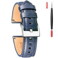Watch Bands Leather Band For Men, Quick Release 18mm 20mm 22mm 24mm Top Grain Vintage Strap With Extral Tools