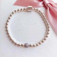 Bracciali Pandora Sterling Sterling S925 per le donne catena di perline con logo Designer signore regalo gioielli braccialetti con scatola originale