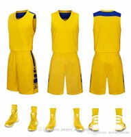 wholesale Customized men Basketball Uniforms,mens kits Sports clothes tracksuits Discount Cheap boy Basketball Sets tops With Shorts A8-23