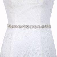 Correia de cetim de casamento de cristal artesanal cintos cetim cinto de vestido de casamento para decoração de casamento fita nupcial cinto de faixa b29