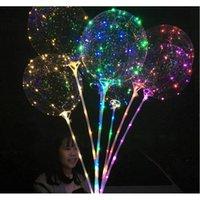 31.5inch 스틱 문자열 풍선 LED BOBO 풍선 LED 가벼운 크리스마스 할로윈 생일 풍선 파티 D JLLQAU WARMSLOVE